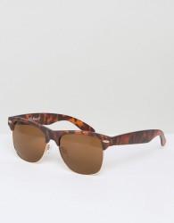 AJ Morgan Wade Retro Sunglasses In Tort - Brown