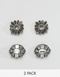 ALDO 2 Pack Floral Embellished Shoe Clips - Silver