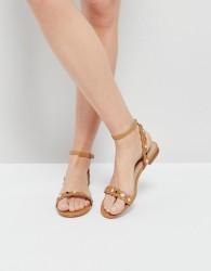 ALDO Amelie Tan Embellished Flat Sandals - Tan