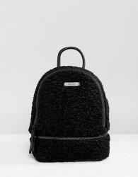 ALDO Anancoedo Faux Shearling Mini Backpack - Black