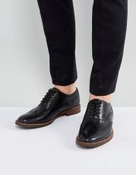 ALDO Bartolello Leather Brogue Shoes In Black - Black