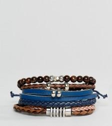 ALDO Black / Brown Bracelets 4 Pack - Multi