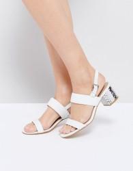 ALDO Brandey White Mid Metallic Heel Sandals - White