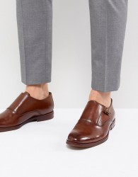 ALDO Catallo Leather Monk Shoes In Tan - Tan