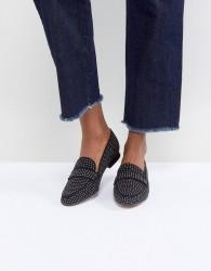 ALDO Cheade Flat Slip On Shoe with Pin Studs - Black