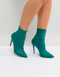 ALDO Cirelle Pull On Sock Boot in Emerald Green - Green