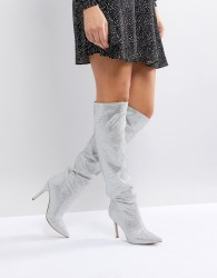 ALDO Claira Crystal Slouch Boots - White