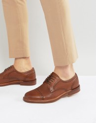 ALDO Derrade Leather Brogue Shoes - Tan