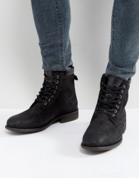 ALDO Derrian Leather Lace Up Boots In Black - Black