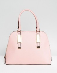 ALDO Dome Tote Bag with Top Handle in Blush - Red