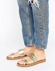 ALDO Double Strap Buckle Sandals - Gold