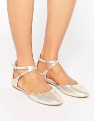 ALDO Falorisa Gold Ballerina Flat Shoes - Gold