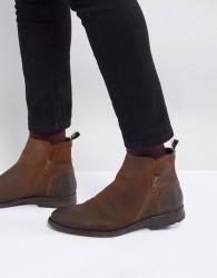 ALDO Gerone Suede Zip Boots - Brown