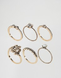ALDO Jewelled Stacking Rings - Gold