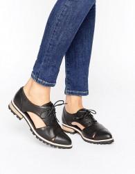 ALDO Lace Up Flat Shoes - Black