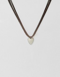 ALDO Leather Pendant Necklace - Black