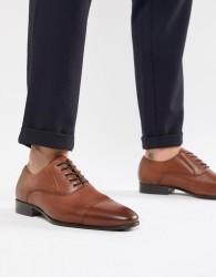 ALDO Legawia toe cap lace up shoes in tan leather - Tan