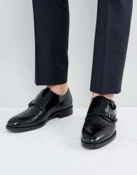 ALDO Mantesana Leather Monk Shoes In Black - Black