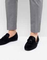 ALDO Mccrery dress loafers in black suede - Black