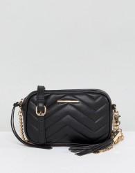 Aldo Mini Chevron Quilted Camera Bag - Black