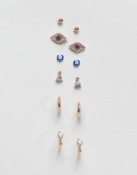 ALDO Multipack Charm Earrings - Gold