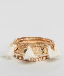 ALDO Multipack Tassel Bracelets - Gold