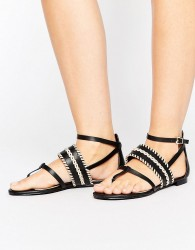 ALDO Nadya Woven Strap Flat Sandals - Black