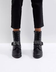 ALDO Realove Buckle Ankle Boots - Black