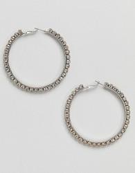 ALDO Silver Embellished Hoop Earrings - Silver