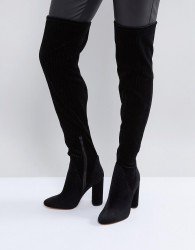ALDO Tenesha Velvet Over The Knee Boots - Black
