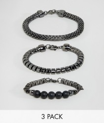ALDO Textured Bracelets In 3 Pack - Multi