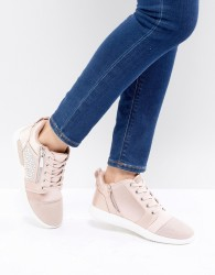 ALDO Trainer in Satin with Embellishment - Pink