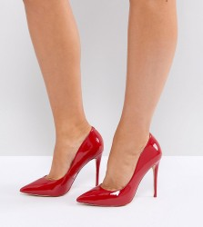 ALDO Wide Fit Red Pointed Court Shoes - Red