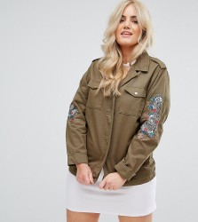 Alice & You Military Jacket With Dragon Arm Embroidery - Green
