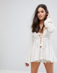 All About Eve Beach Kimono - White