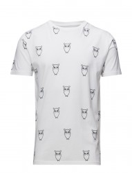 All Over Big Owl Printed Tee - Gots