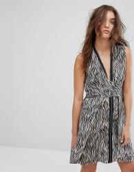 All Saints Jayda Zebra Dress in Silk - Multi