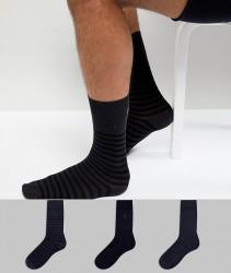 AllSaints Breton Socks 3 Pack - Multi