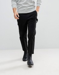 AllSaints Carpenter Slim Fit Cropped Chino - Black