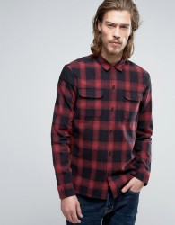 AllSaints Check Shirt in Slim Fit - Red