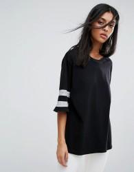 AllSaints Chezza Oversized T-Shirt - Black