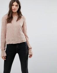 AllSaints Dakota Long Sleeved Top - Pink