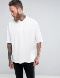 AllSaints Drop Shoulder Polo Shirt - White