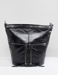 AllSaints Fetch Backpack with Zip Detail - Black
