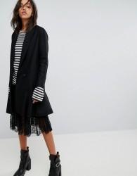 AllSaints Grace Coat with Asymmetric Skirt - Black
