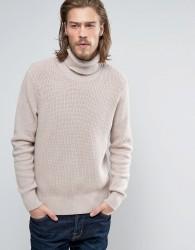 AllSaints Knitted Roll Neck Jumper - Cream