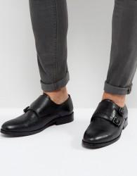 AllSaints Leather MonkStrap Shoe - Black