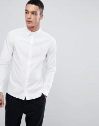 AllSaints Long Sleeve Shirt In Poplin - White