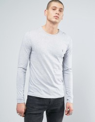 AllSaints Long Sleeve Top With Logo - Grey