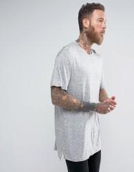 AllSaints Longline T-Shirt - Grey